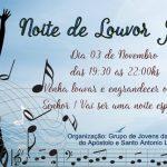 Noite de Louvor Javé. Dia 03 de Novembro, das 19:30 às 22hs!