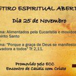 Retiro Espiritual Aberto. Participem!