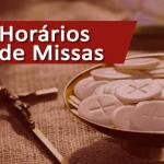 Alteração nos horários das missas dominicais