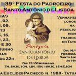 39º Festa do Padroeiro Santo Antônio de Lisboa