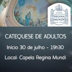 Catequese para adultos na Capela Regina Mundi